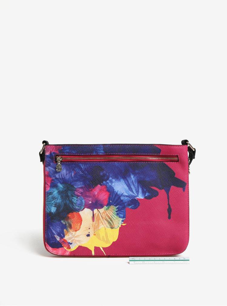 Růžová crossbody kabelka s potiskem Desigual Corel Molina