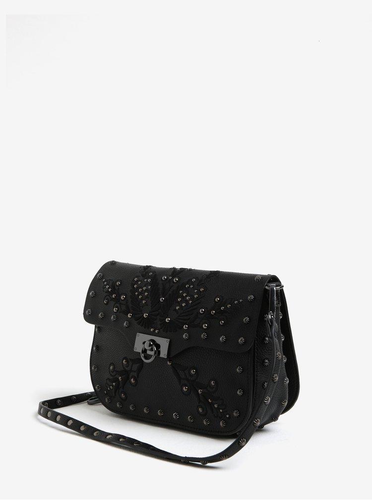 Černá crossbody kabelka s ozdobami Desigual Amorgos