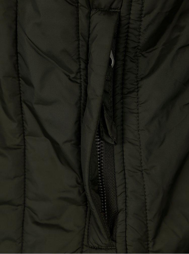 Tmavě zelená prošívaná bunda Jack & Jones Premium Connect