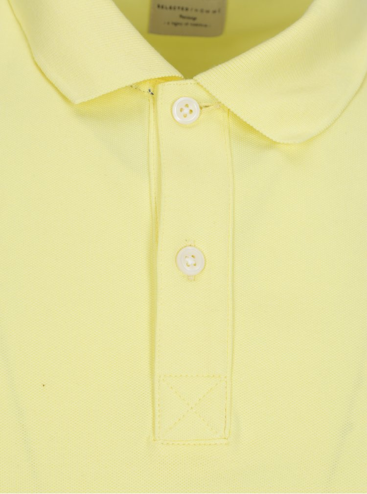 Tricou polo galben - Selected Homme Haro