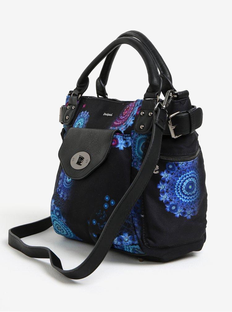 Černá vzorovaná kabelka s flitry Desigual McBee
