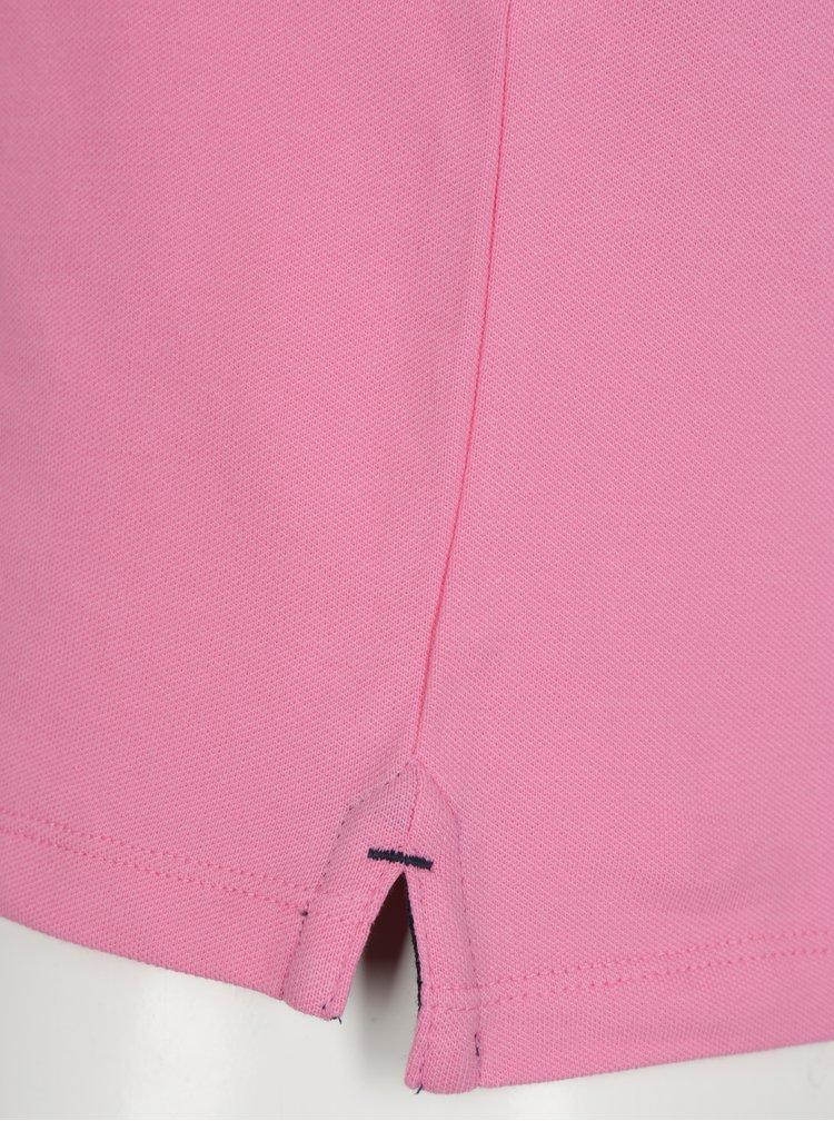 Světle růžové polo tričko Selected Homme Haro