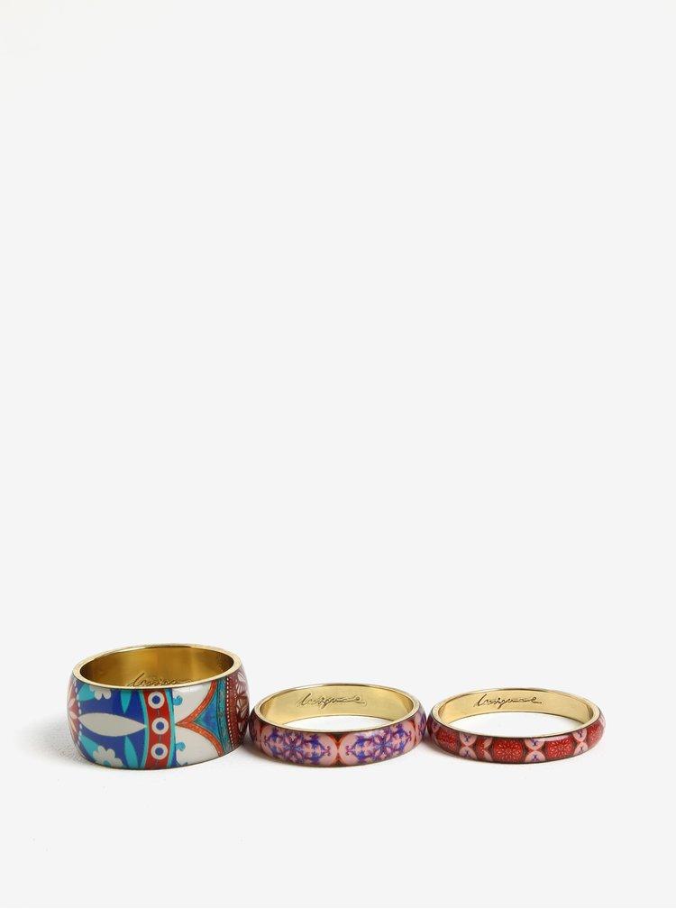 Sada tří náramků v růžové, modré a zlaté barvě Desigual Little