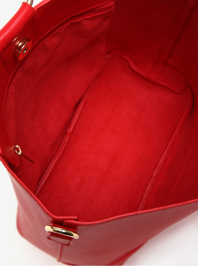 Červená koženková kabelka Dorothy Perkins