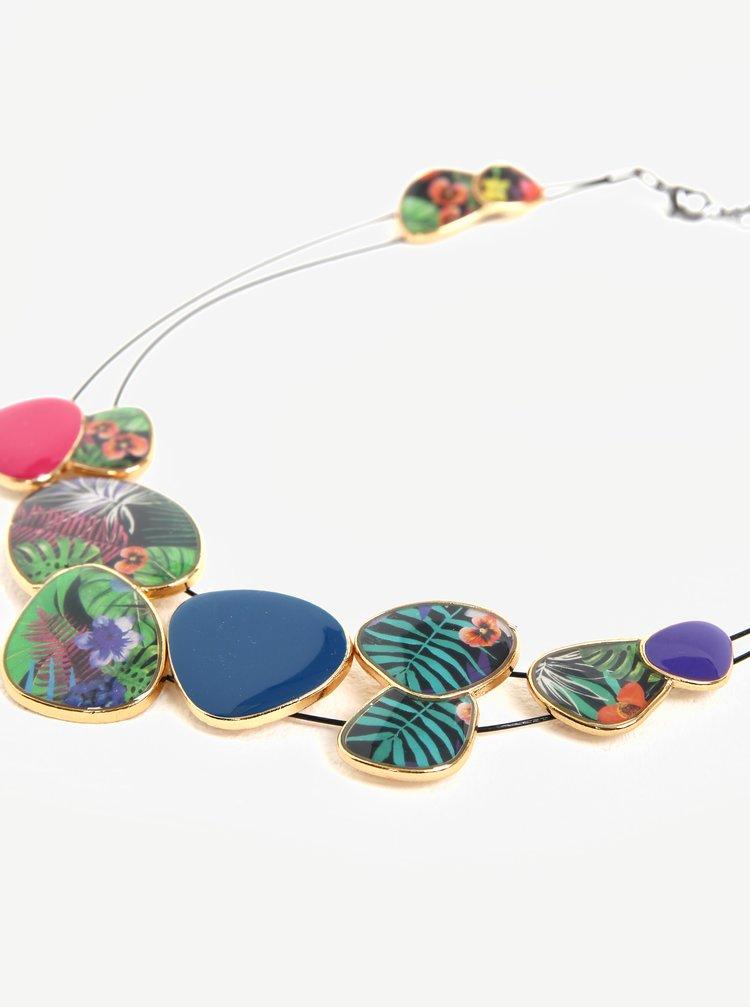 Náhrdelník s barevnými přívěsky Desigual Prisscilla
