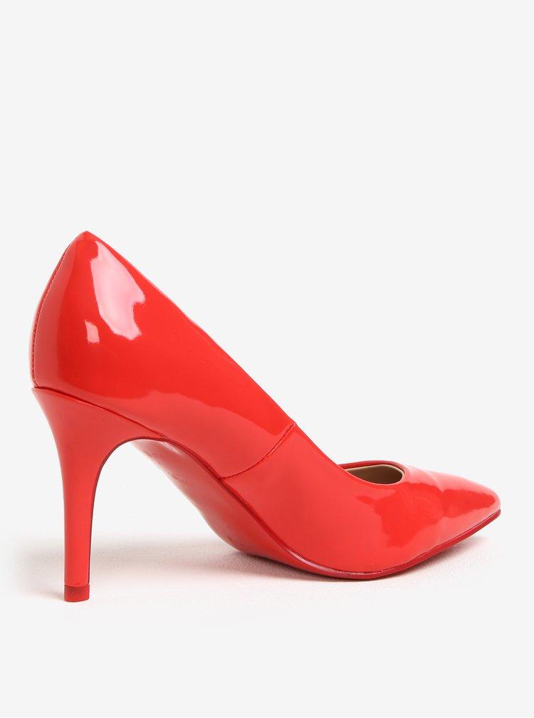 Červené lesklé lodičky Dorothy Perkins