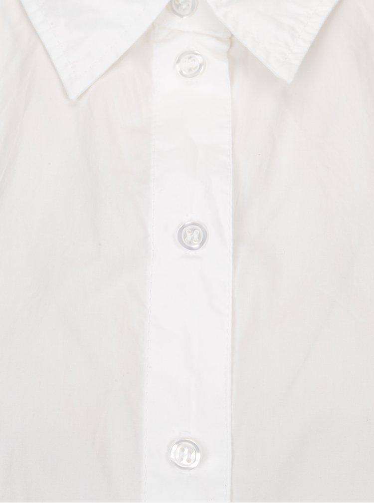 Bílá oversize košile s krátkým rukávem ONLY Grace