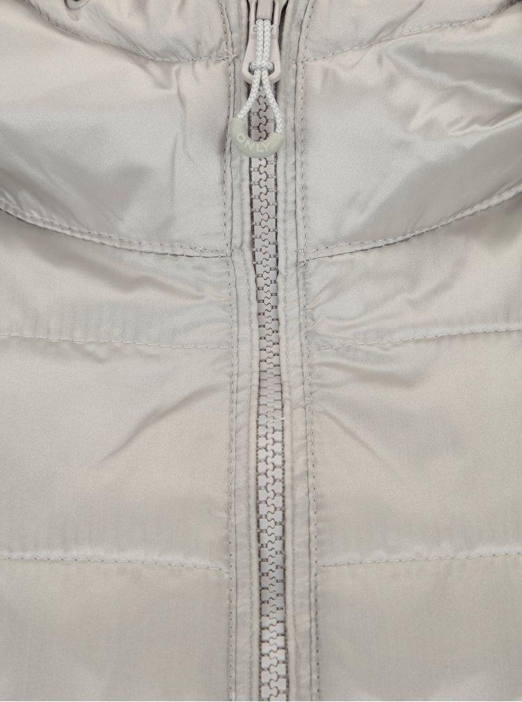 Prošívaná bunda ve stříbrné barvě ONLY Tahoe