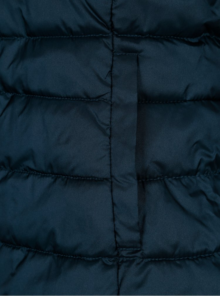 Tmavě modrá prošívaná vesta ONLY Tahoe Shimmer