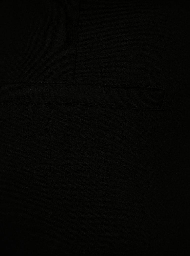 Černé kalhoty se zavazováním v pase ONLY Oliva