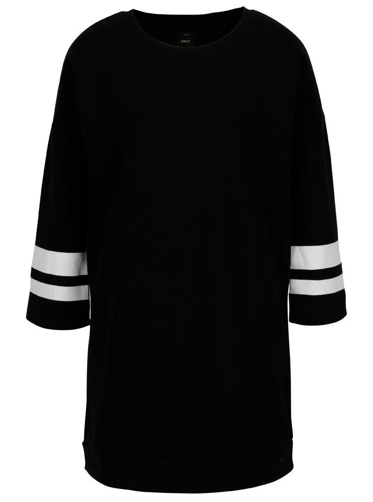 Černá dlouhá mikina s 3/4 rukávem ONLY Absolute