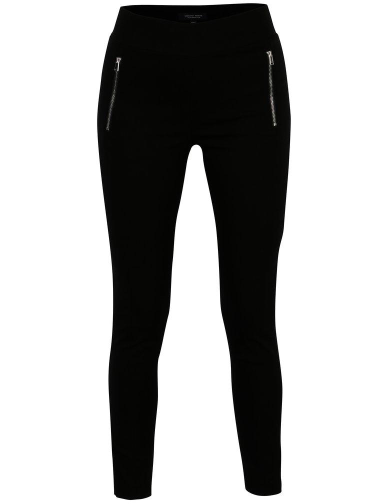 Černé kalhoty se zipy Dorothy Perkins