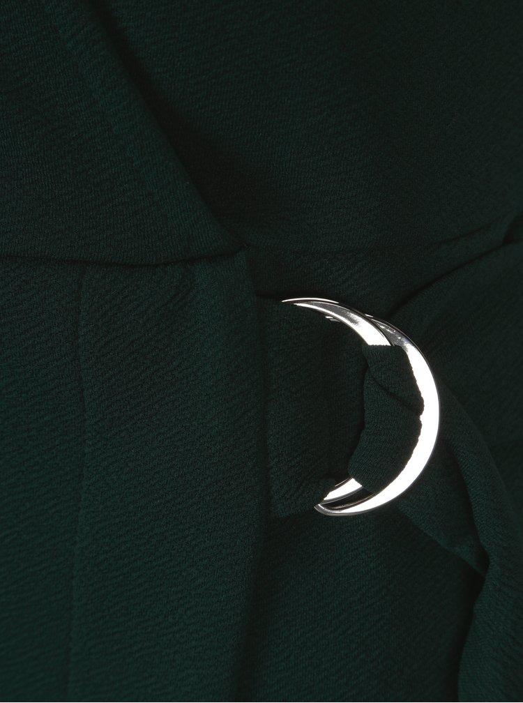 Zelené šaty s překládaným výstřihem Dorothy Perkins