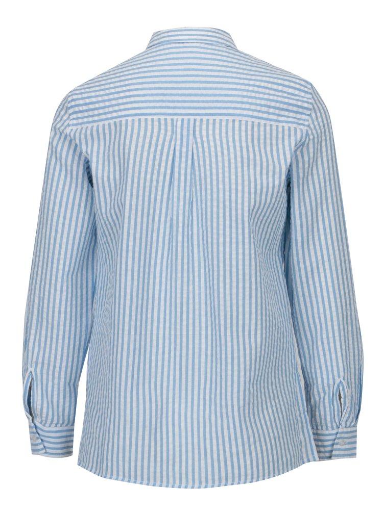 Krémovo–modrá pruhovaná košeľa Dorothy Perkins Petite