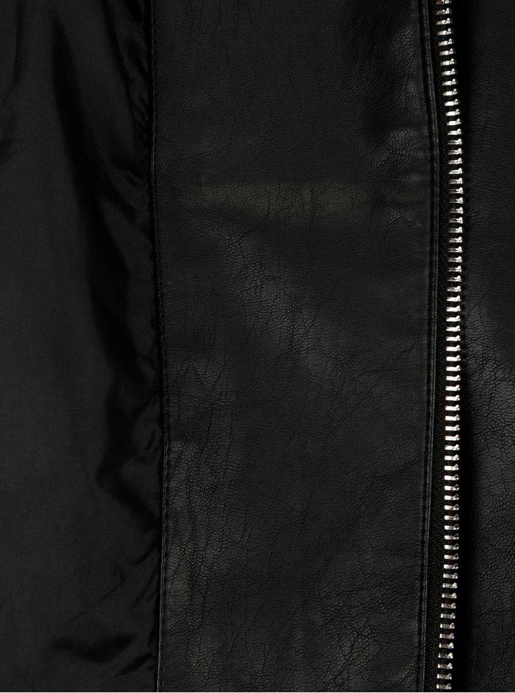 Černý koženkový křivák Dorothy Perkins