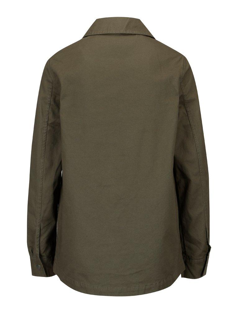 Khaki bunda s aplikací na kapsách Dorothy Perkins