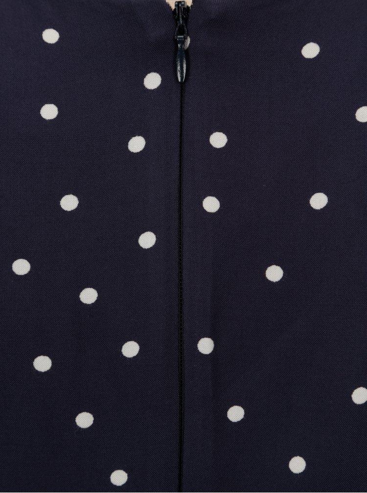 Tmavě modré puntíkované šaty Billie & Blossom Petite