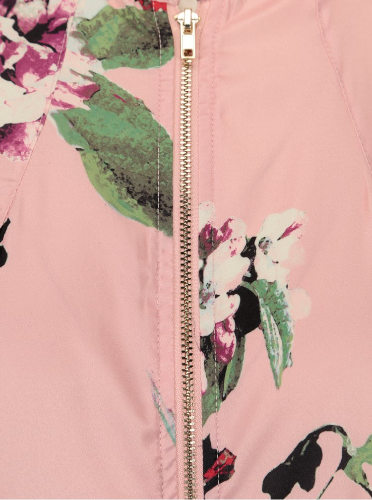 Světle růžový květovaný lehký bomber VILA Melli
