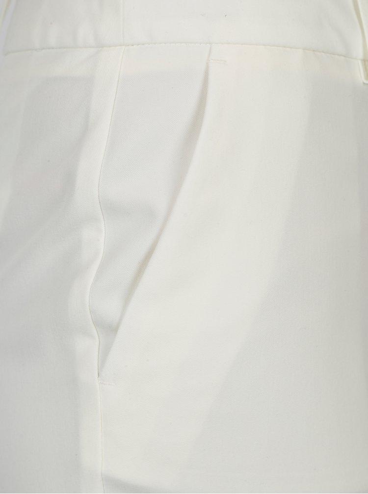 Krémové zkrácené kalhoty Dorothy Perkins