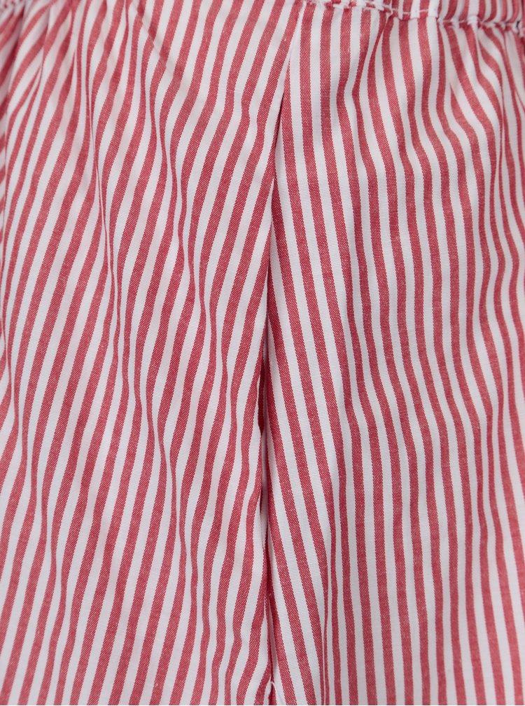 Bílo-červená pruhovaná sukně VILA Sema