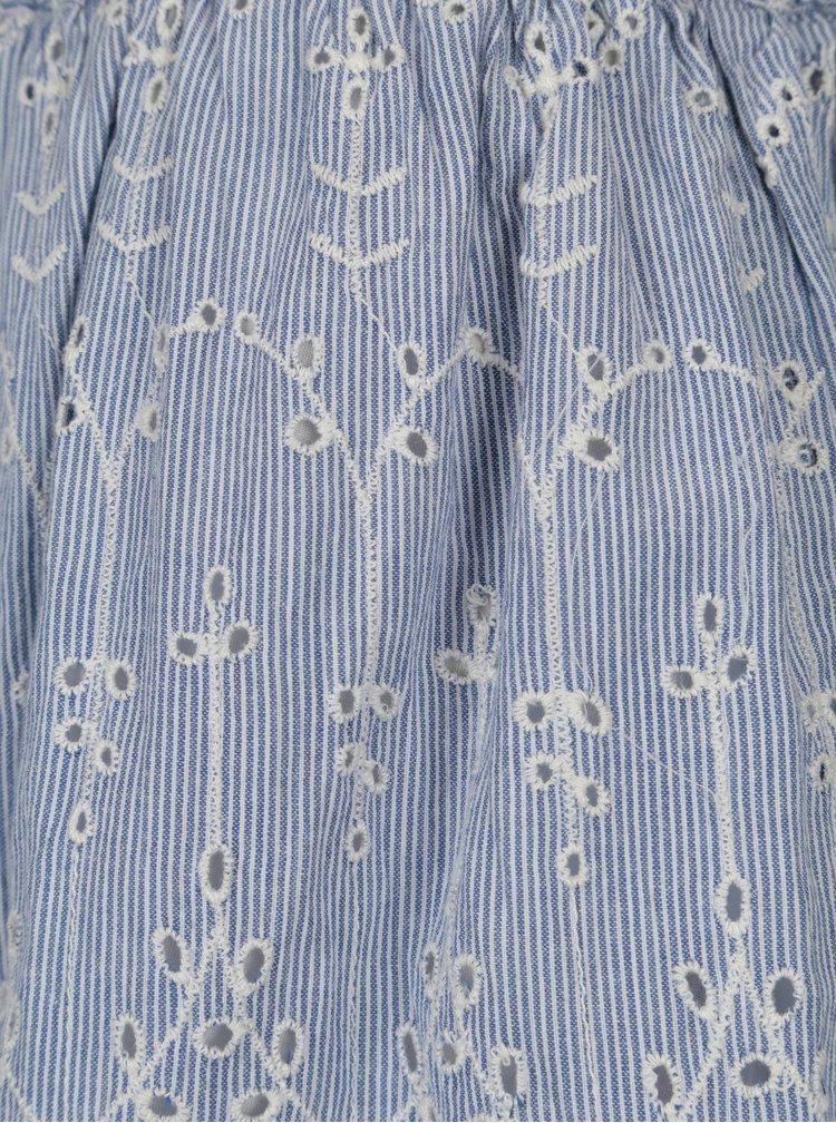 Světle modrá pruhovaná sukně se vzorem VILA Luxy