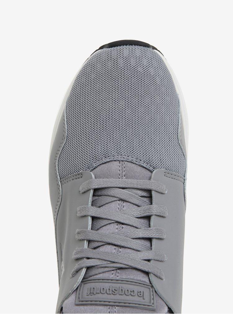 Světle šedé pánské kožené tenisky Le Coq Sportif Pure Lea Sport