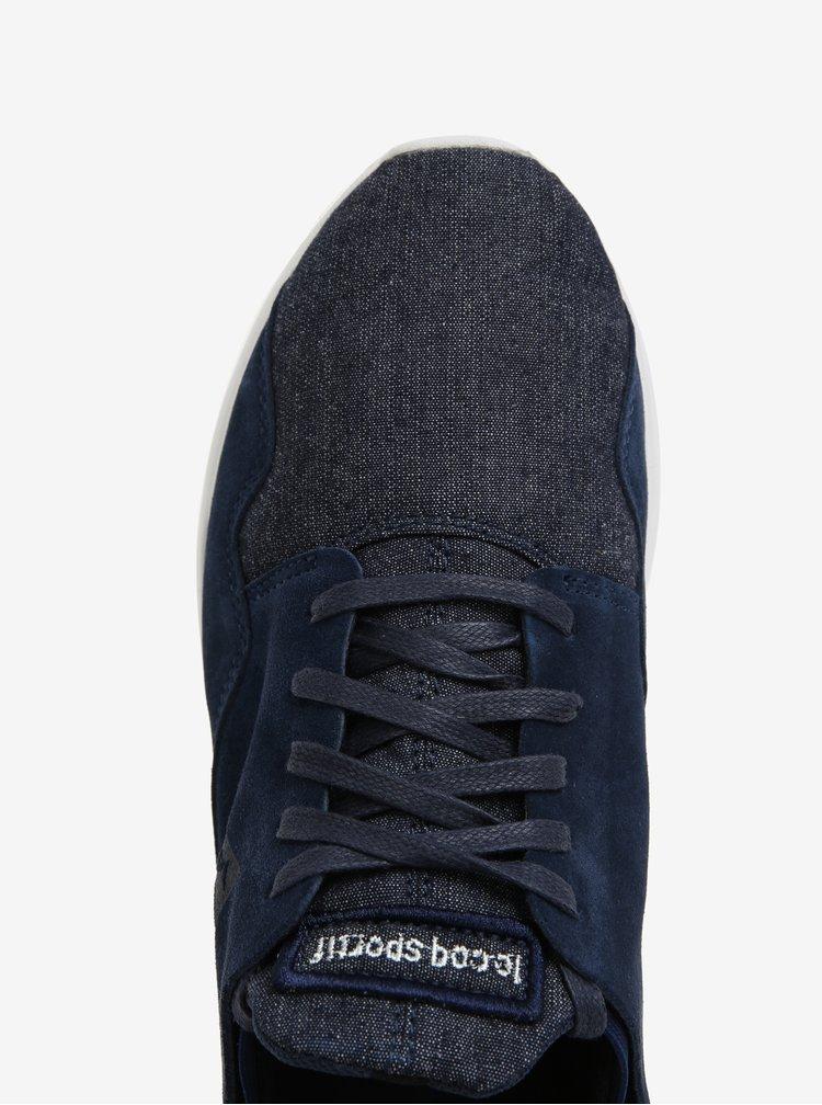 Tmavě modré pánské semišové tenisky Le Coq Sportif Pure Denim