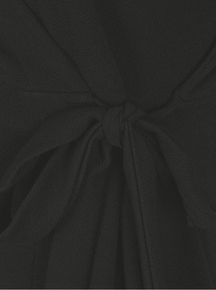 Rochie neagra cu decolteu suprapus si maneci 3/4 - Dorothy Perkins Curve
