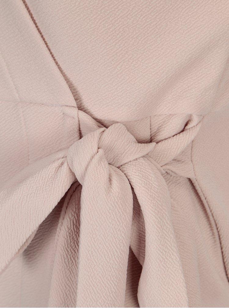 Světle růžové zavinovací šaty Dorothy Perkins