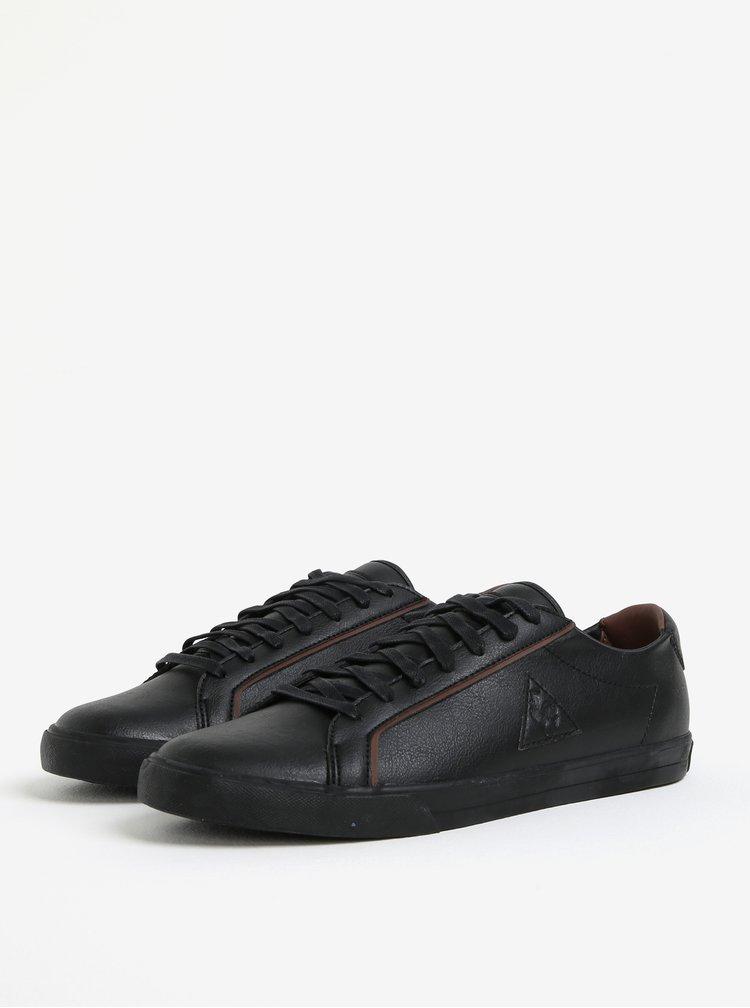 Černé pánské koženkové tenisky Le Coq Sportif Feret