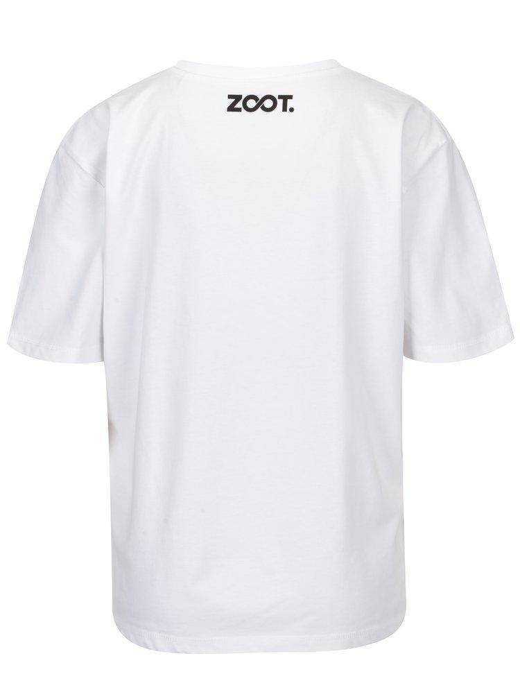 Tricou alb cu print pentru femei - ZOOT Original Boobs with Piercing