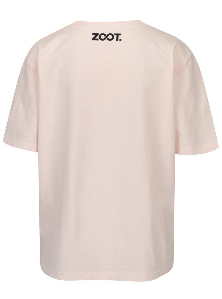 Světle růžové dámské oversize tričko ZOOT Original Boobs with Piercing