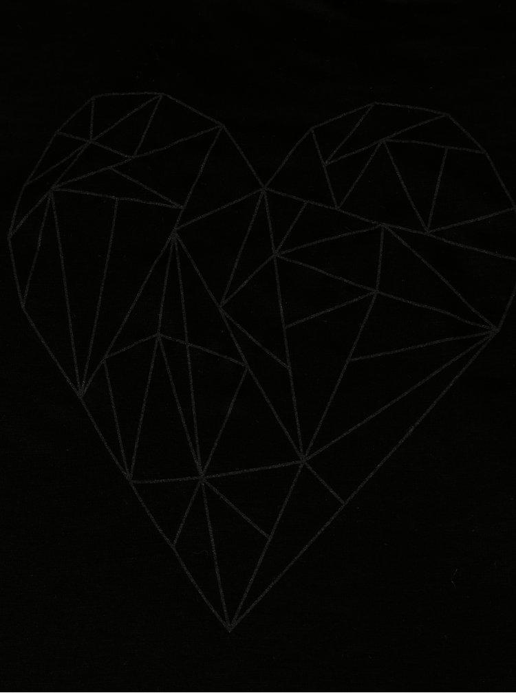 Černé dámské tílko ZOOT Original Polygon heart