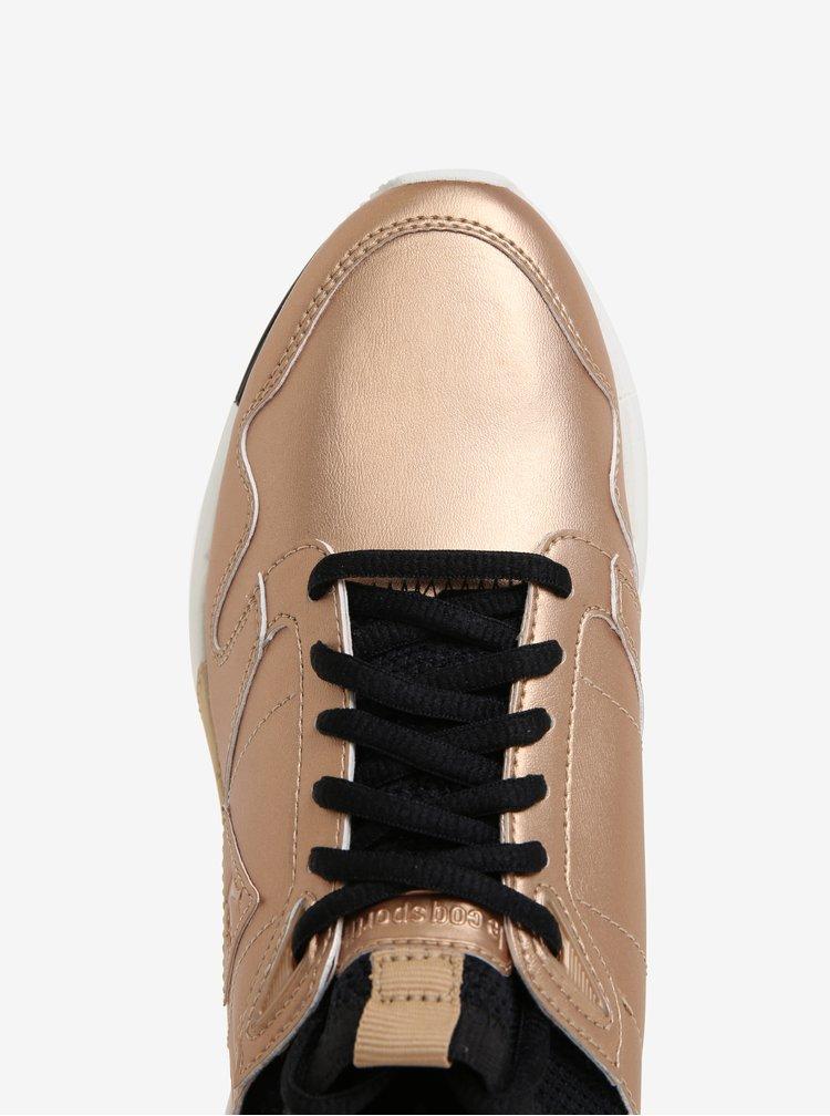 Dámské metalické tenisky ve zlaté barvě Le Coq Sportif Omicron Lea Metallic