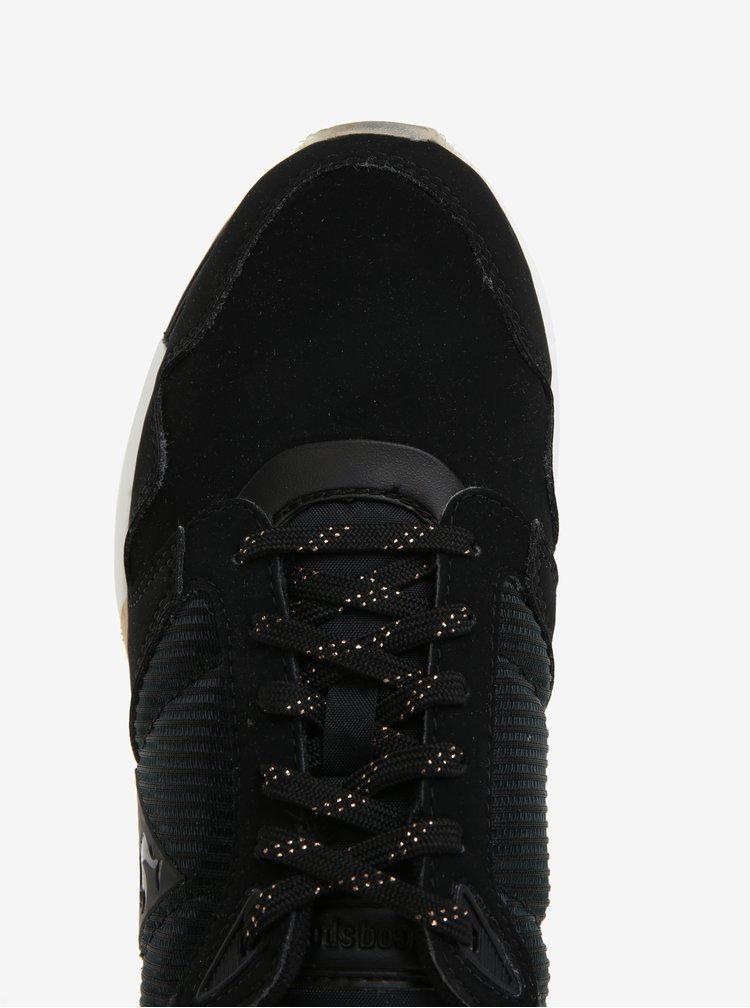 Černé dámské tenisky Le Coq Sportif Omega Sparkly