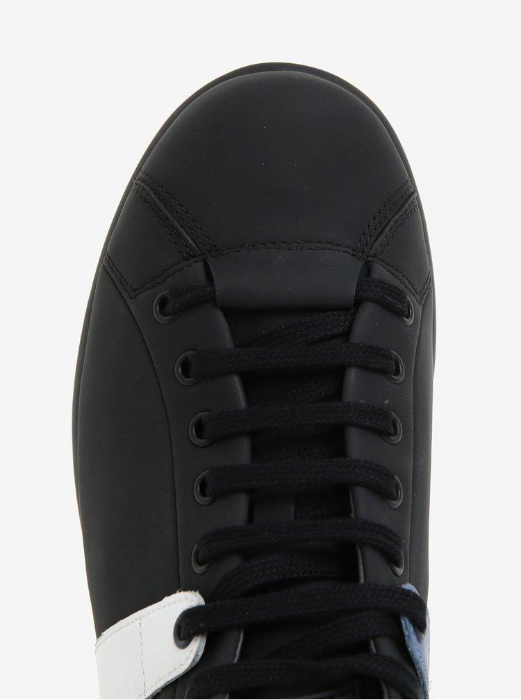 Černé pánské kožené tenisky Camper Twins