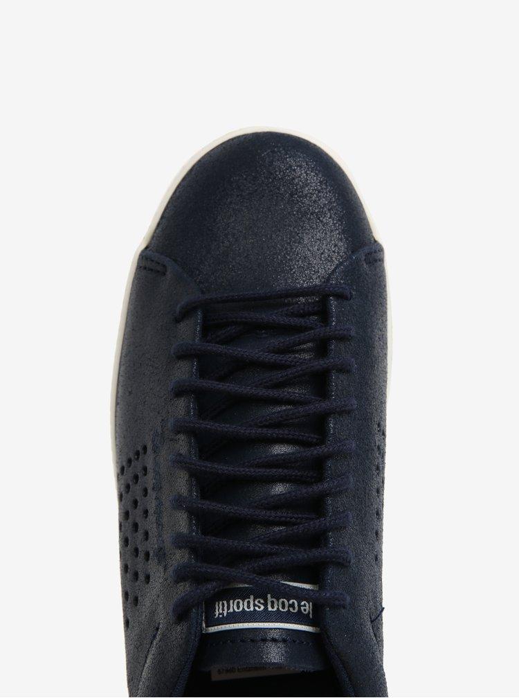 Tmavě modré dámské kožené tenisky Le Coq Sportif Charline Metallic