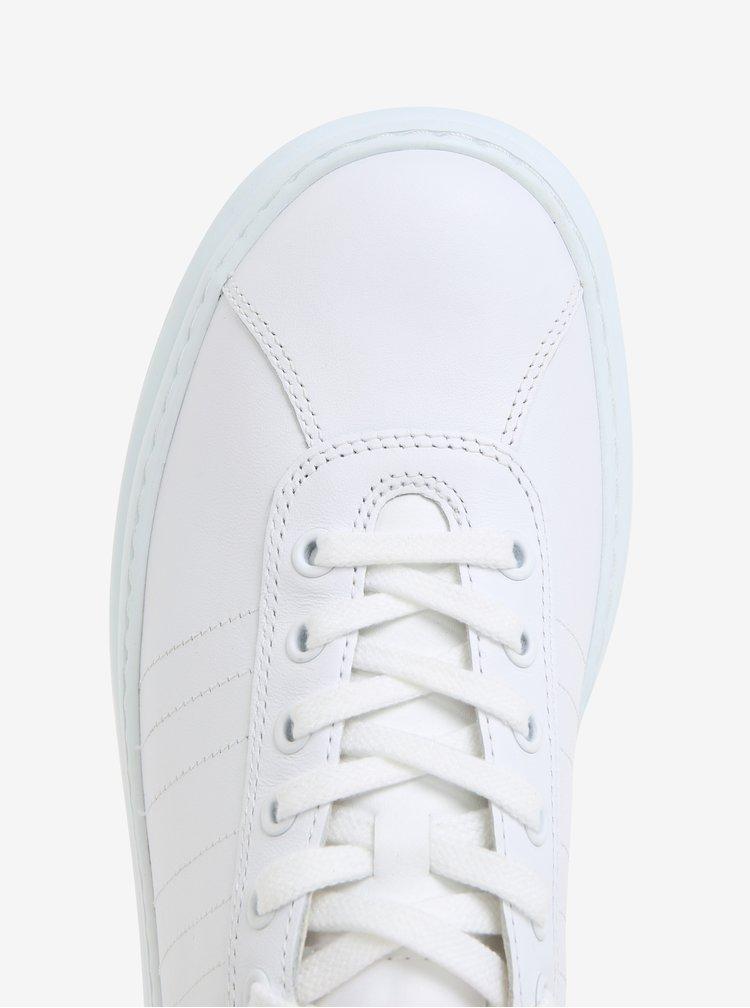 Bílé pánské nízké kožené tenisky Camper Runner