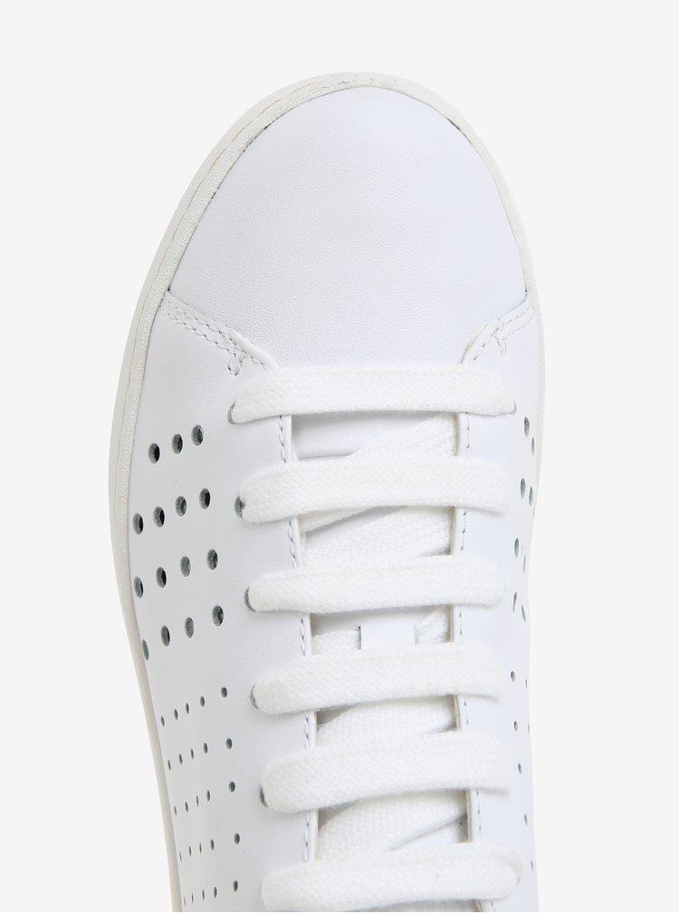 Bílé dámské kožené tenisky Camper Twins