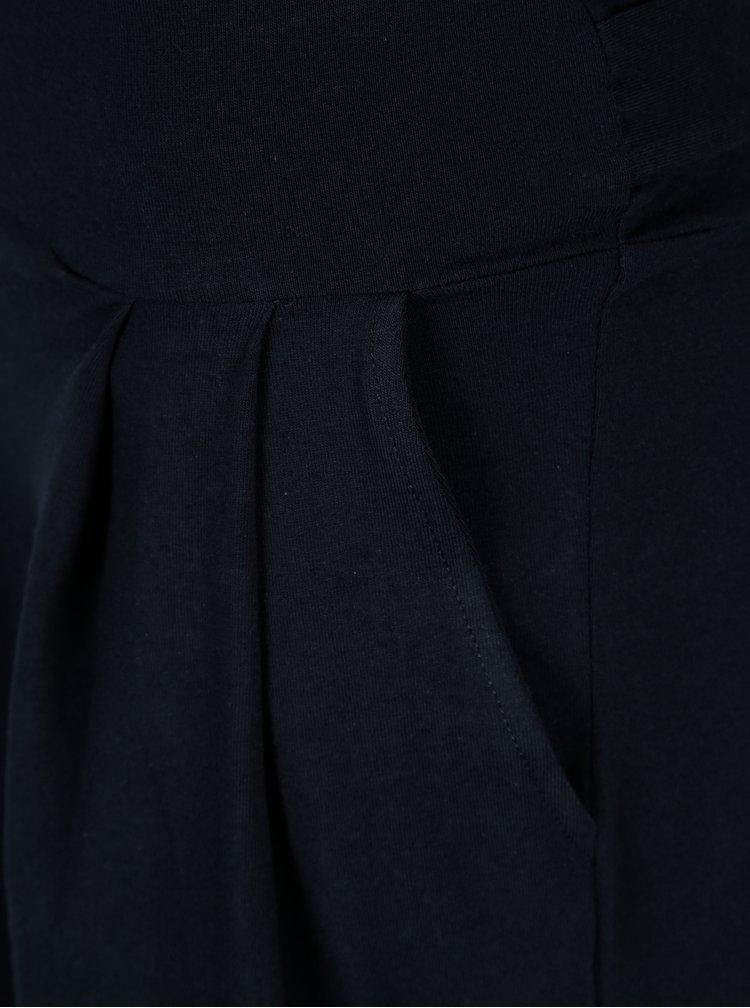 Tmavomodré puzdrové šaty s vreckami a dlhým rukávom ZOOT