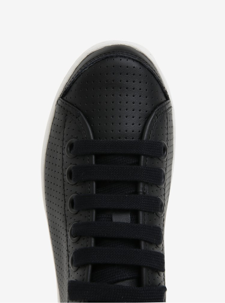 Černé dámské kožené tenisky Camper Uno