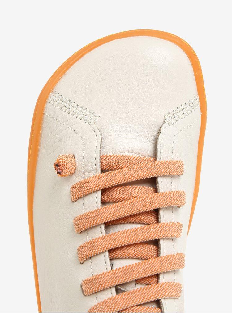 Krémové dámské kožené tenisky Camper Peu