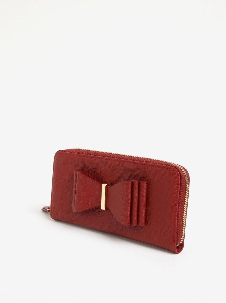 Cihlová peněženka s mašlí LYDC