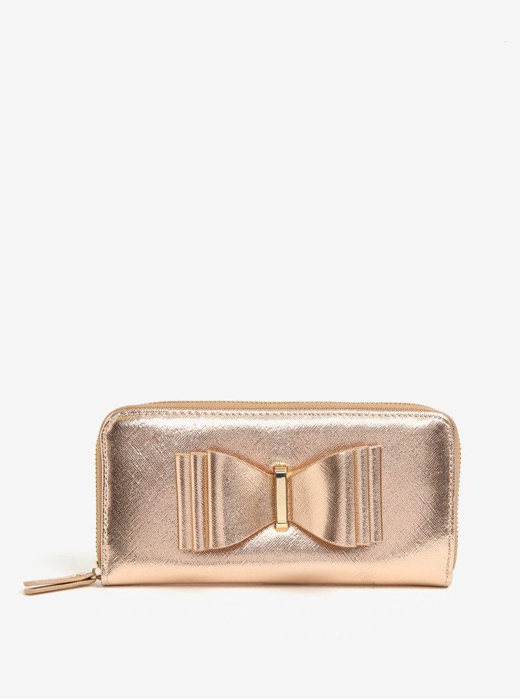 Peněženka s mašlí v růžovozlaté barvě LYDC