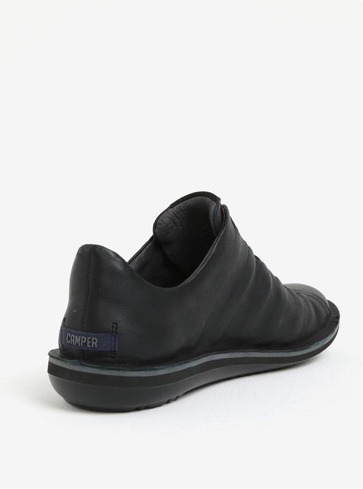 Čierne pánske kožené tenisky Camper