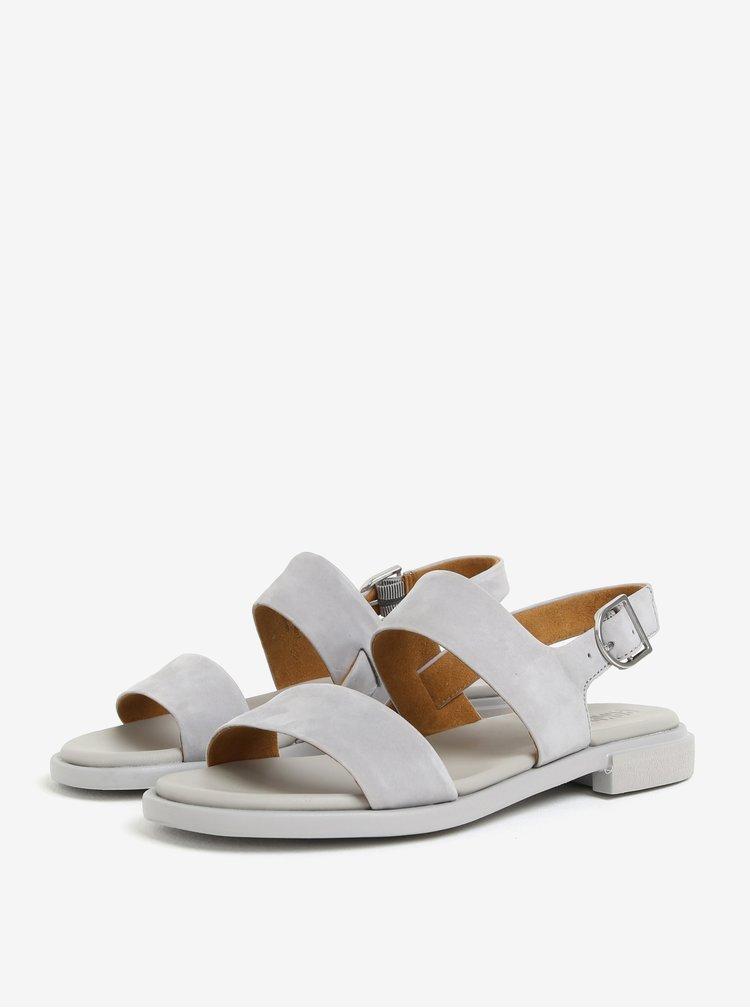 Šedé dámské kožené sandály Camper Edy