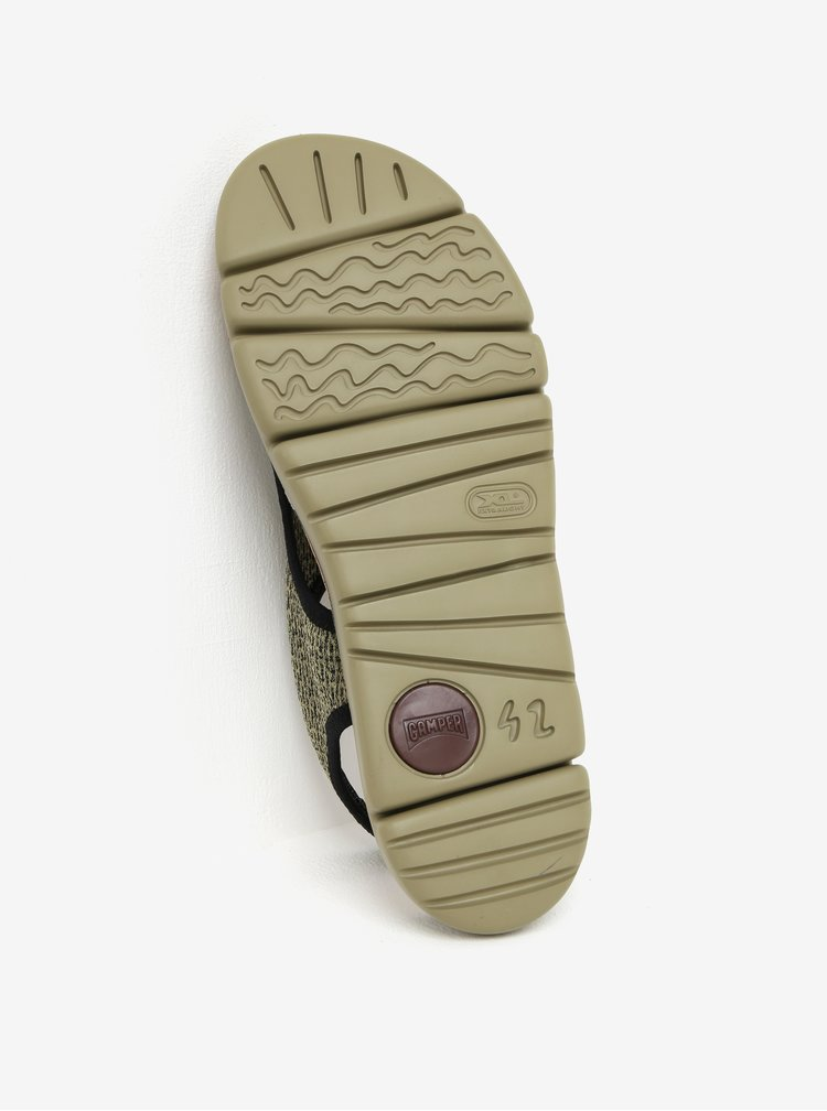 Zelené žíhané dámské sandály Camper Oruga