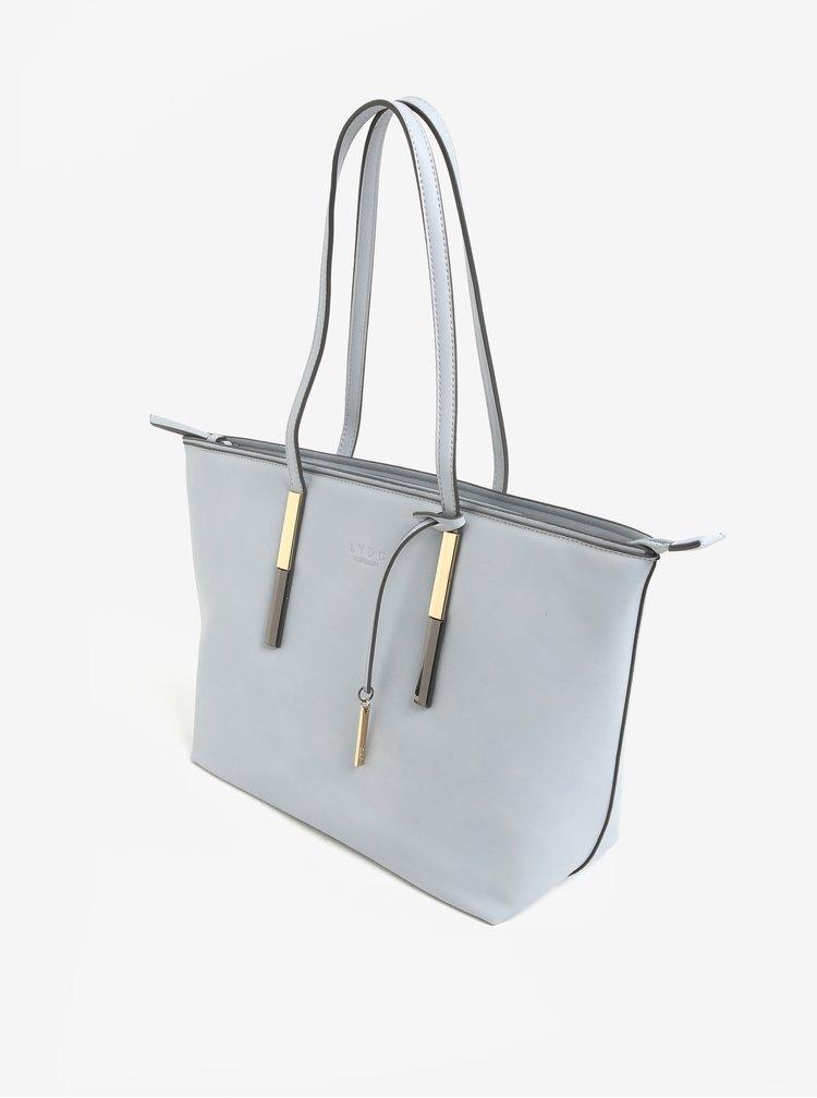 Světle šedá kabelka s detaily ve zlaté barvě LYDC