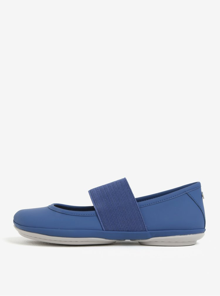 Modré kožené baleríny Camper Right