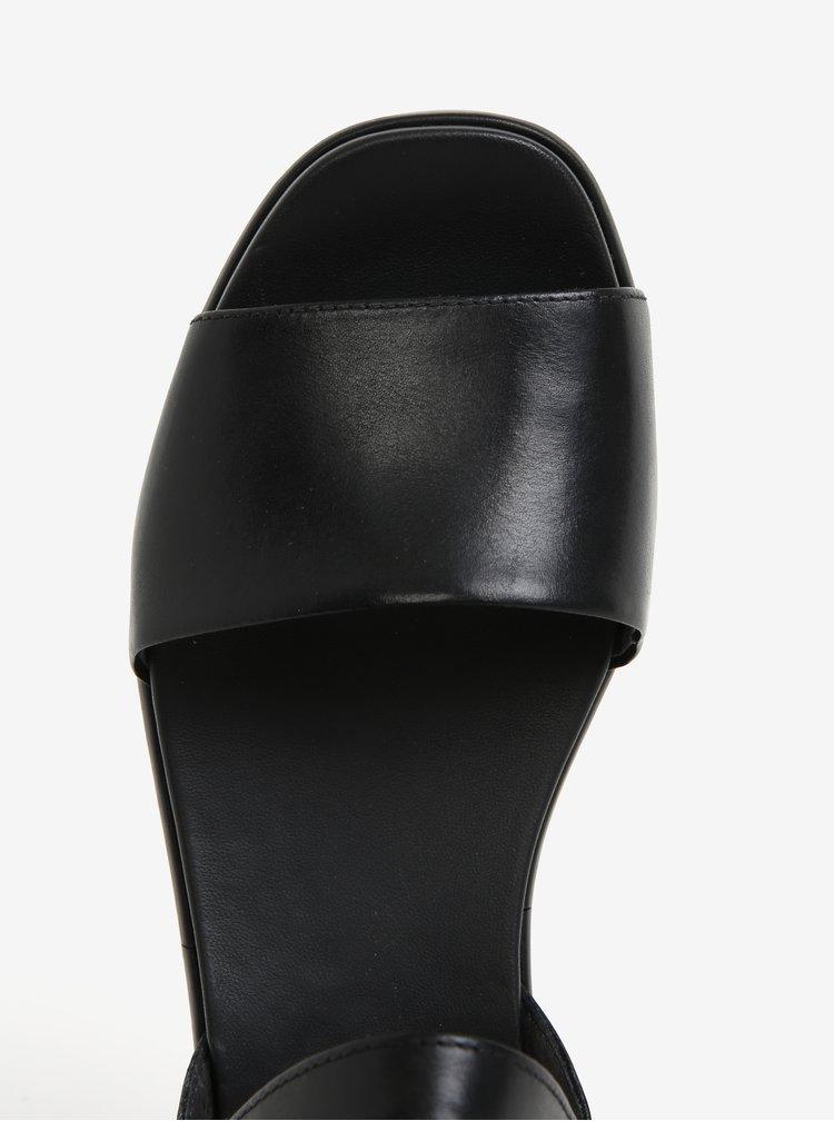 Černé dámské kožené sandály na platformě Camper Misia